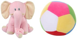Deals India Pink Elephant(26 cm) and Mini ball(17 cm) combo