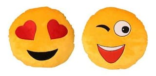 Deals India Cool Dude Smiley & Hearts Smiley Cushions Combo