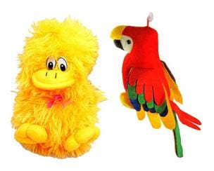 Deals India Musical Parrot(25 cm) and Musical Duck(26 cm) combo