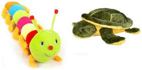 Deals India Cute Colorful Caterpiller Soft Toy-55 Cm And Turtle Soft Toy