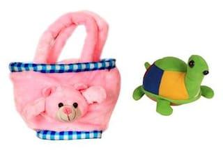 Deals India Teddy Bag(30 cm) and Tortoise(15 cm) combo