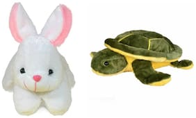 Deals India Character Rabbit Soft Toy And Green Turtle