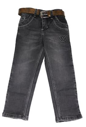 Defyknits Boy's Regular fit Jeans - Grey