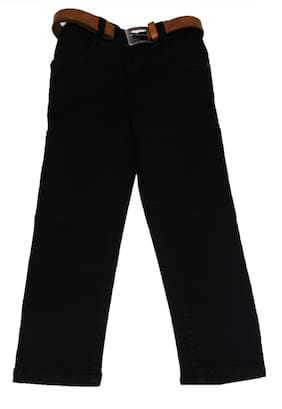 Defyknits Boy's Regular fit Jeans - Black