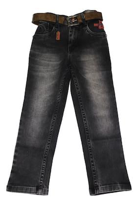 Defyknits Boy's Regular fit Jeans - Black