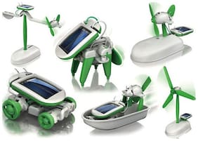Delhi Haat 6 in 1 Educational Hybrid Solar Power Energy Robot Kit