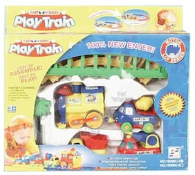 Delhi Haat Cartoon Play Train Set Battery Operated Toy