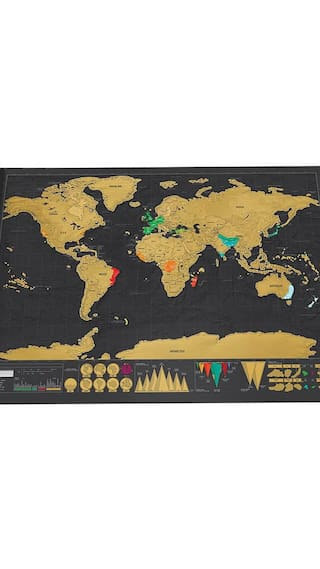 Buy deluxe travel edition scratch off world map poster personalized deluxe travel edition scratch off world map poster personalized journal log gift gumiabroncs Choice Image