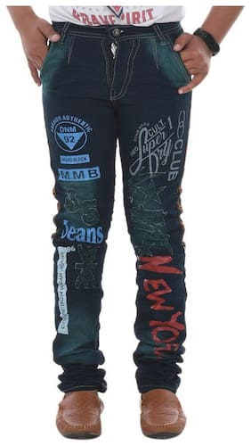 DEMISE Boy's Regular fit Jeans - Green