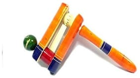 Desi Karigar Noisy Ratchet Wooden Rattle Toy For New Born Kids