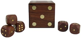 Desi Karigar Game Dice Box With Five Dice Set