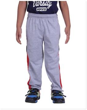 DFH Boy Cotton Track Pants - Purple