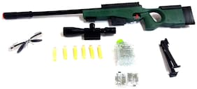 DHARTI ENTERPRISE High Grade Sniper Gun Toy Big Size 31 inch with Water Crystal Bullets and Soft Bullet Dart - Play Toy Gun
