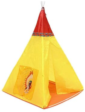 DHARTI ENTERPRISE Kids Play Tent House Red Indian jugle Boy Theme Indoor Outdoor Fun Super Foldable Easy to assamble Cutest Toy