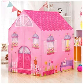 dharti enterprise Jumbo Size Extremely Light Weight , Water & Fire Proof Doll House Tent for Kids