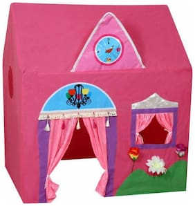 DHARTI ENTERPRISE Kid's Jumbo Size Queen Palace Tent House (Pink)