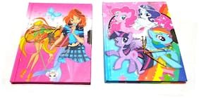 Diary Nawani Princess Diary with Lock Case for Girls Gifts Options (Combo) Color As per Availability,