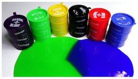 Different Colours   Plastic Container   Non Toxic   Easy Flow Multicolor Putty Toy Puzzle Puzzle  (set of 6 pcs