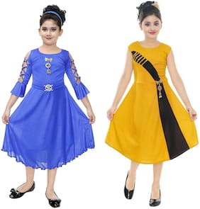DIGIMART Partywear Frock Dress For Girl (PACK OF 2)