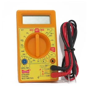 Digital LCD Multimeter for AC/DC Voltage, Ammeter, Current Detector with Test leads
