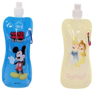 Foldable Water Bottle >> Buy Disney Foldable Water Bottle Pack Of 2 Online At Low Prices In