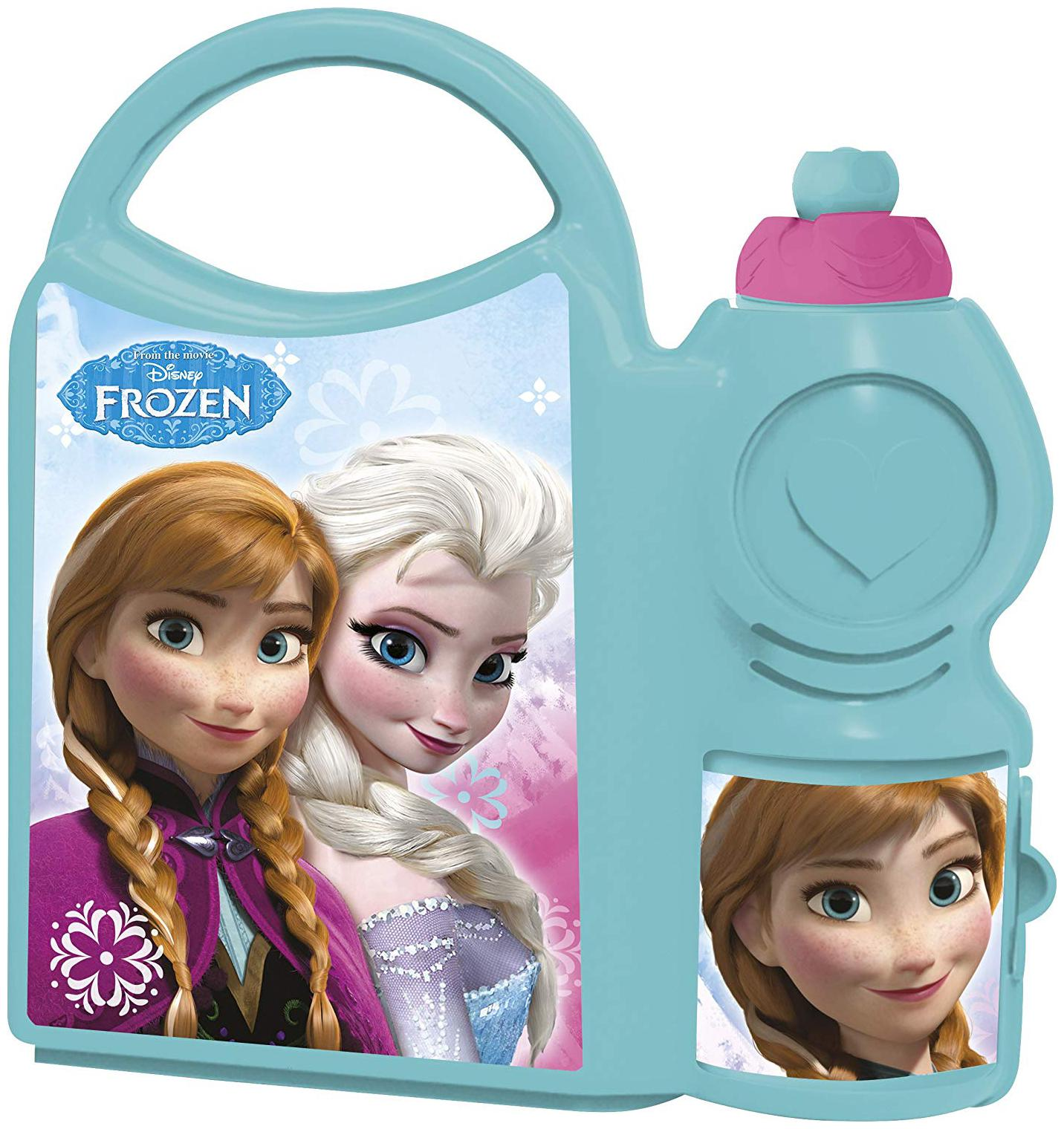 Disney Frozen School Plastic Lunch Box Set;2 pcs