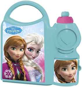 Disney Frozen School Plastic Lunch Box Set;2-pcs