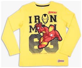 Disney Boy Cotton Printed T-shirt - Yellow