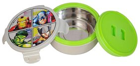 Disney & Marvel Avengers Plastic Insulated Hot Case Lunch Box & Tiffin Box;500 Ml;Multicolour