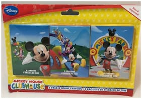 "Disney Mickey Mouse Clubhouse 3 Pack Crayons 8 Ct Each 5"" x 2.5"" Pkg New!"