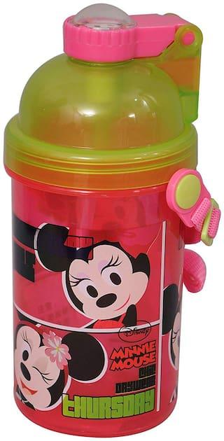 Disney Minnie Mouse Push Button Pp Sipper Bottle / Water Bottle;500ml;Multi Color