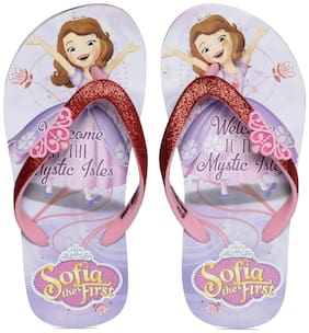 DISNEY PRINCESS KIDS GIRLS PURPLE FLIP-FLOP