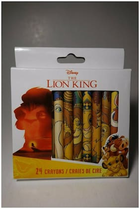 Disney The Lion King Set of 24 Crayons Brand New Non-Toxic Simba Pumbaa Timon