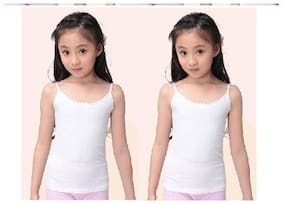 Dixcy Camisole for Girls - White , Set of 2