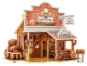 DIY Wooden 3D Puzzle House Building Toys (Assorted Design)