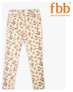 DJ&C Girl Cotton Trousers - Yellow
