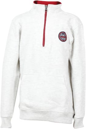 DJ&C Boy Cotton blend Solid Sweatshirt - Grey