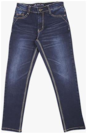 Dj & C Boy Solid Regular Cotton Denim (Blue)