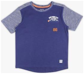 DJ&C Boy Cotton Solid T-shirt - Blue