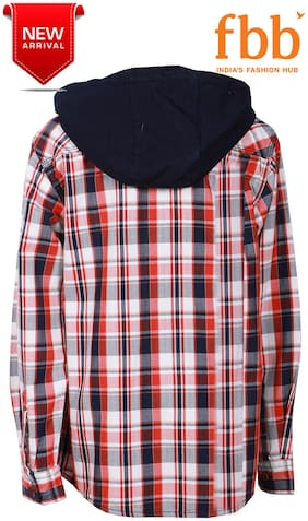DJ&C Boy Cotton Checked Shirt White