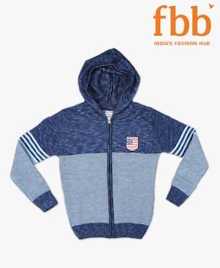 DJ&C Boy Acrylic Solid Sweater - Blue