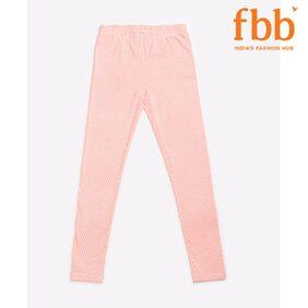 DJ&C Girls Pink Printed Leggings