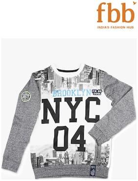 DJ&C Boy Cotton Solid Sweatshirt - White