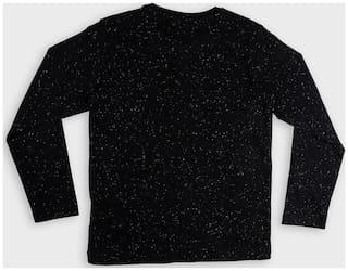 DJ&C Boy Cotton Printed T-shirt - Black