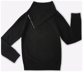 DJ&C Boy Acrylic Solid Sweater - Black