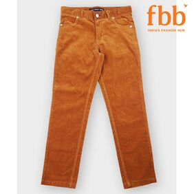 DJ&C Boy Solid Trousers - Brown