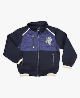 DJ&C Boy Polyester Solid Winter jacket - Blue