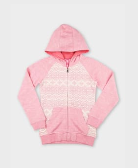 DJ&C Girl Blended Solid Sweater - Pink