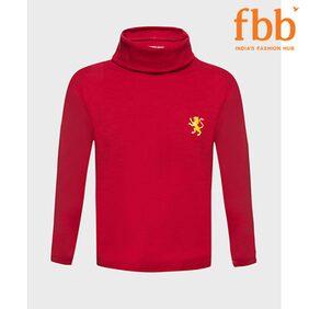 DJ&C Boy Poly Cotton Solid T-shirt - Red