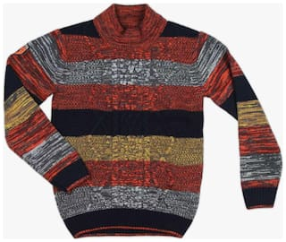DJ&C Boy Acrylic Striped Sweater - Multi